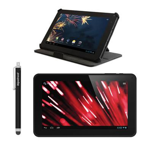 Flare 2 Google Certified Dual Core 8GB 9 Inch. Tablet; Case and Accessories Bundle