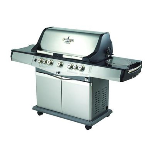 Stainless Steel 5 Burner Natural Gas Grill with Bonus Cover Included