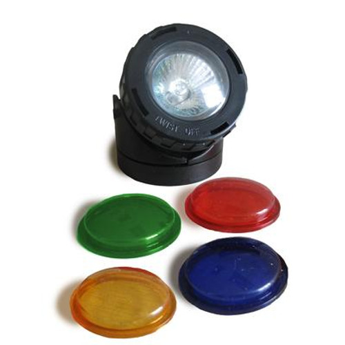 10-watt Pond/Fountain Halogen Spotlight with coloured lenses