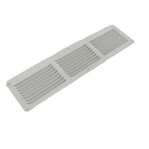 16 inch x 8 inch White Under Eave Vent Aluminum