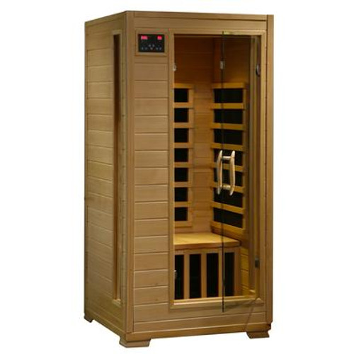 1-2 Person Hemlock Infrared Sauna w/ 4 Carbon Heaters