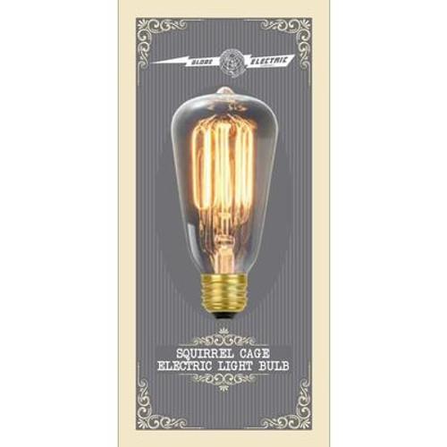 60 Watt Vintage Edison S60 Squirrel Cage Incandescent Filament Light Bulb; E26 Base; Antique Edison