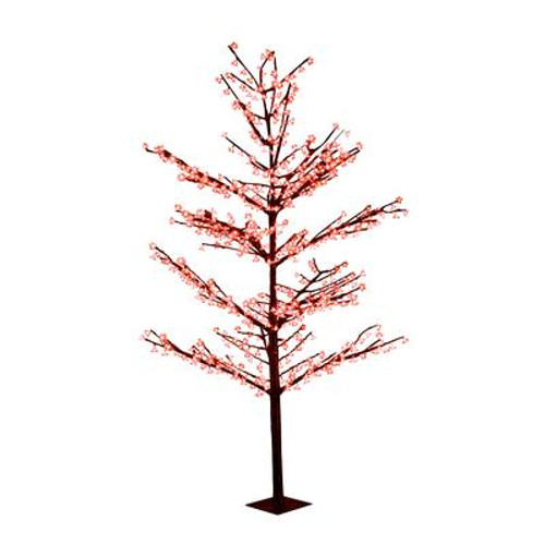 102 Inch  Red LED Lighted Tree with 654 LEDS; AC Adaptor