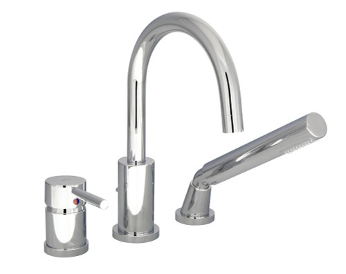 Rondo 3-Piece Roman Bath Faucet - Chrome