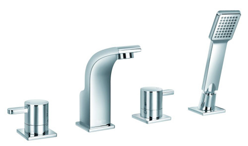 Waven 4-Piece Roman Bath Faucet - Chrome