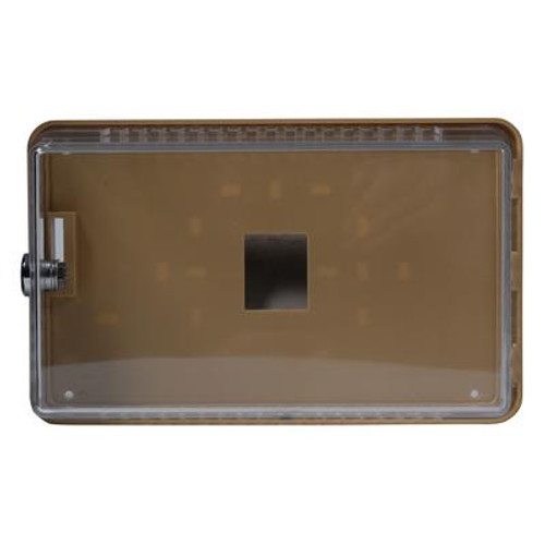 Small; Universal Thermostat Guard; Transparent Cover With Mounting Plate & Mounting Ring