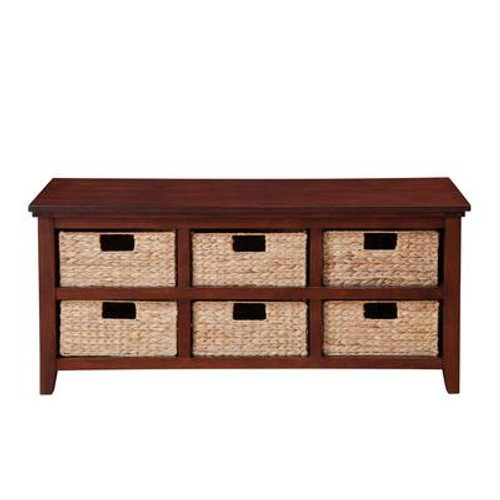 6-Basket Storage Console In Cherry