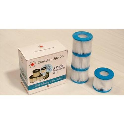 Portable Spa Filters - 4pk