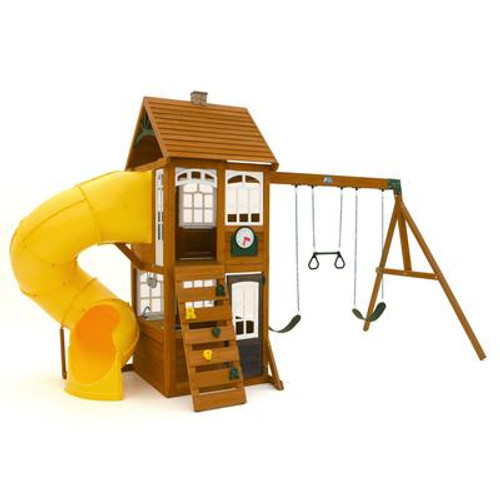 Cedar Summit Creston Lodge Wooden Play Set