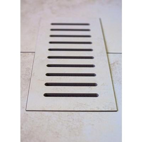 Ceramic vent cover made to match Addison Place Gallery Crème tile. Size - 4 Inch x 11 Inch