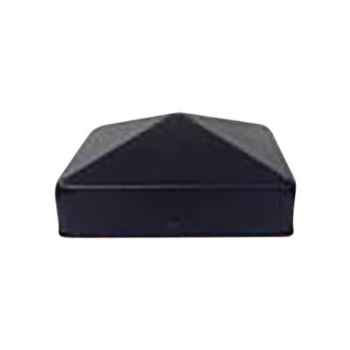4X4 Black Galvanized Metal Post Caps