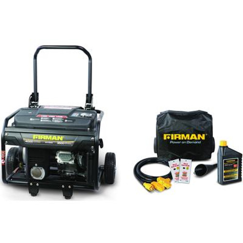 Firman 4000 Watt 6.5 HP Remote Start Gas Powered Portable Generator and Combo Kit