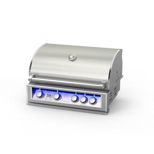 Broil chef PRO-SERIES 32-Inch Built-In LP Gas Grill with Rear Rotisserie Burner