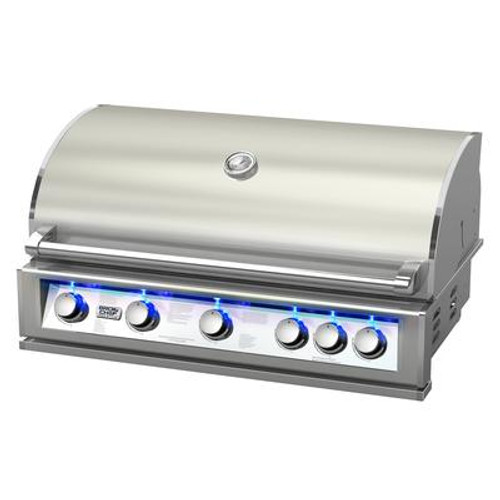 Broil chef PRO-SERIES 40-Inch Built-In LP Gas Grill with Rear Rotisserie Burner
