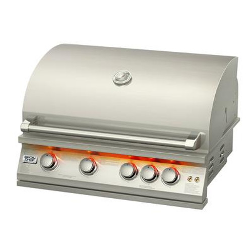 Broil chef 32-Inch Built-In LP Gas Grill with Rear Rotisserie Burner
