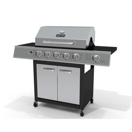 Dyna Glo 5 Burner LP Gas Grill with Infrared Ceramic Sear Side Burner