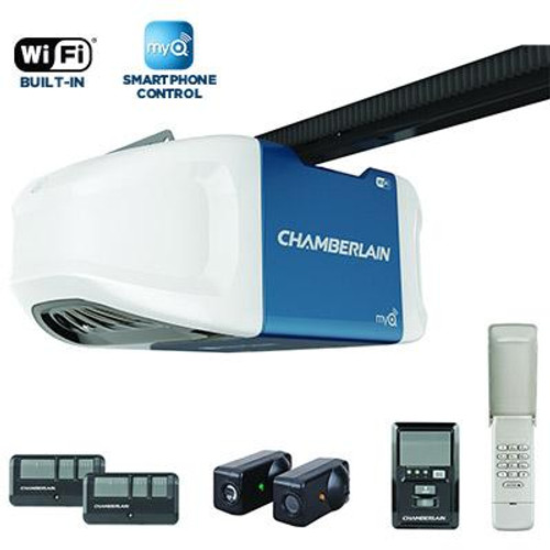3/4 HPS Smartphone-Controlled Wi-Fi Garage Door Opener With Ultra-Quiet Operation
