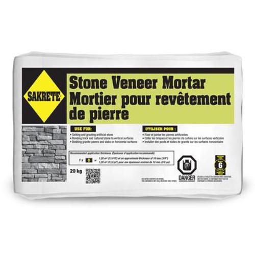 SAKRETE Stone Veneer Mortar; 20 KG