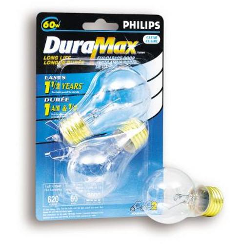 60 Watts  Fan/Garage Door A15 Clear Medium Base Bulb 2 PK