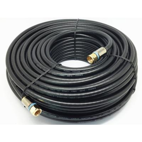 100 Feet  BLACK RG6 COAXIAL CABLE