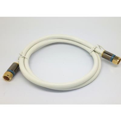 3 Feet  WHITE RG6 COAXIAL CABLE