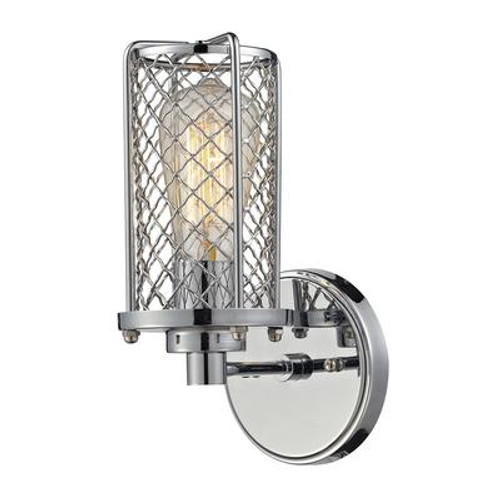 Brisbane Collection 1 Light Sconce In Polished Chrome