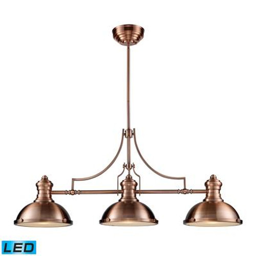 Chadwick 3-Light Billiard/Island Light In Antique Copper  - LED