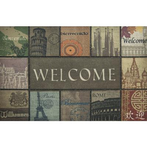 2 Feet x3 Feet Global Welcome Mat