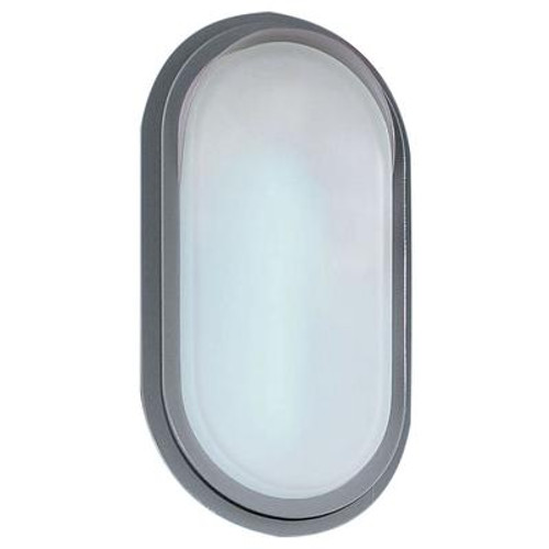 Adria Outdoor Wall Light 2l; Silver Finish; Satin Glass