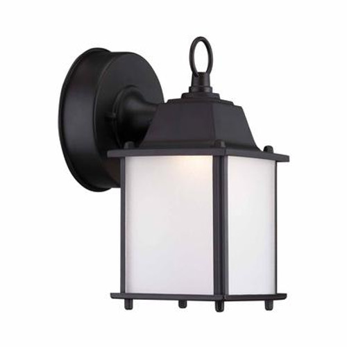Outdoor Satin Bronze LED Wall Lantern