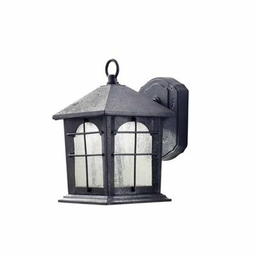Outdoor Aged Iron LED Wall Lantern - 9 inch