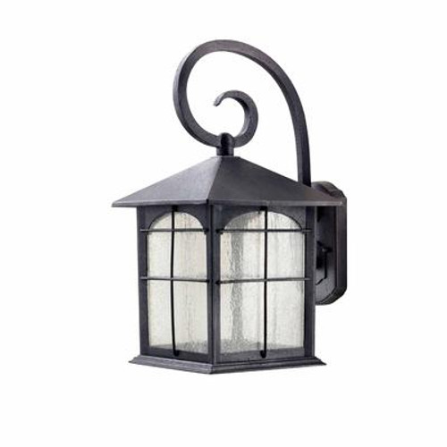 Outdoor Aged Iron LED Wall Lantern - 17.5 inch