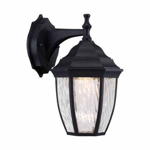 Outdoor Black LED Wall Lantern