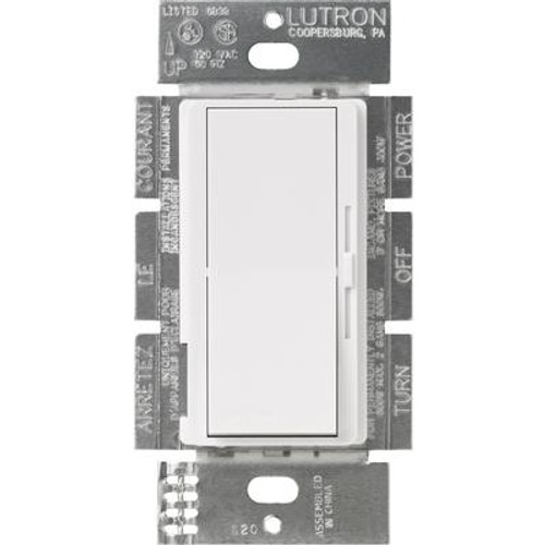 Lutron Diva 1000-Watt Single-Pole Dimmer; White