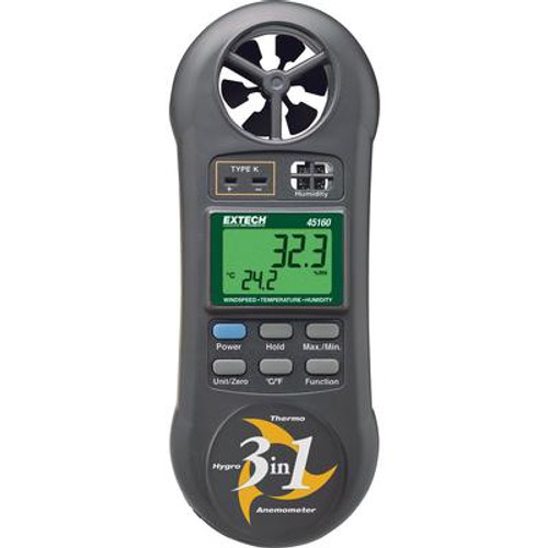 3-in-1 Humidity; Temperature and Airflow meter