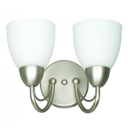 Atropolis 2 Light Wall Satin Nickel Incandescent Wall Sconce