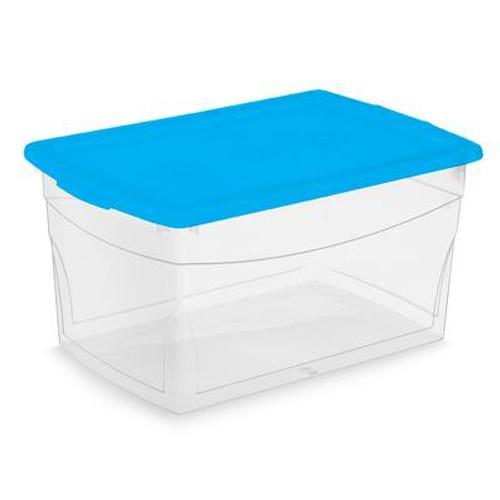 50 Liter Clear Storage Container; Marine Lid