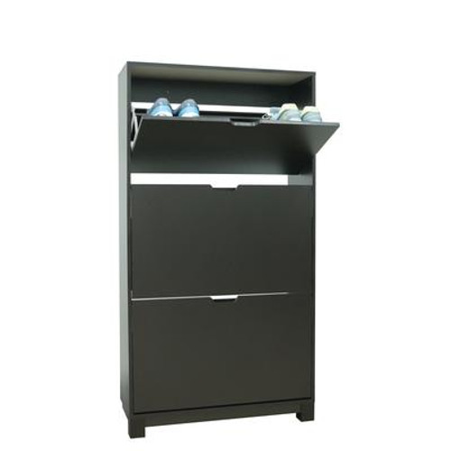 3-Drawer Shoe Cabinet - Espresso