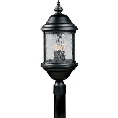 Ashmore Collection Textured Black 3-light Post Lantern