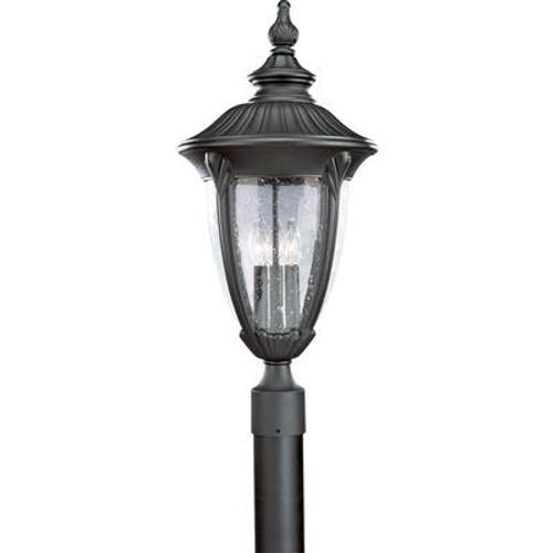 Meridian Collection Textured Black 3-light Post Lantern