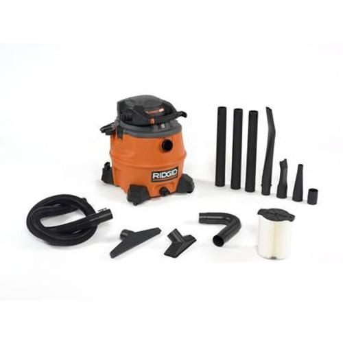 53 Litre / 14 US Gallon Wet/Dry Vacuum With Detachable Blower; Gutter Cleaning Kit & Dust Bags