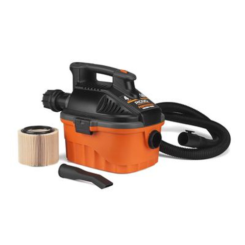 15 Litre / 4 US Gallon Portable Pro Wet/Dry Vacuum With Muffler