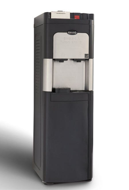 Estratto Stainless Steel Bottom Load Water Cooler With Single Serve Coffee Maker. Hot & Cold Water.