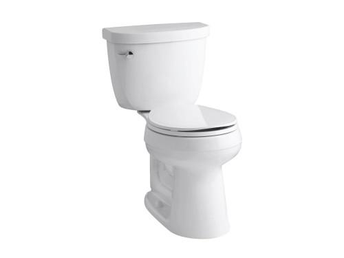 Cimarron 2-Piece 1.28 Gal. Round Bowl Toilet in White