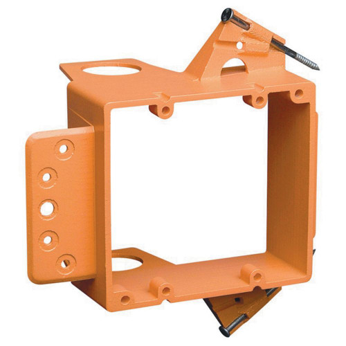 2 Gang Low Voltage Mounting Bracket  New work