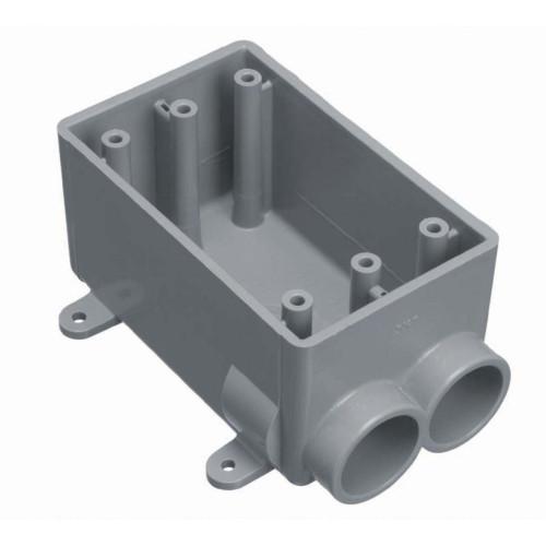 Outdoor Weatherproof FSS Single Gang  PVC Device Box  3/4 In