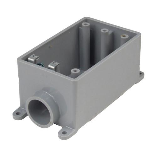 Outdoor Weatherproof FSE Single Gang PVC Device Box  3/4 In