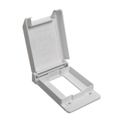 Weatherproof Single Gang GFI Vertical PVC Cover  White