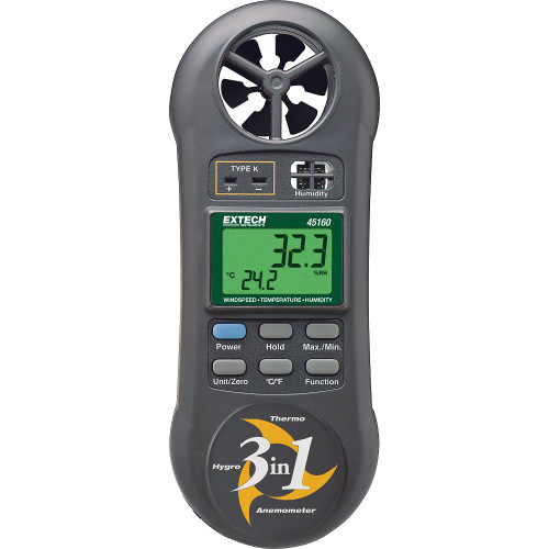 3-in-1 Humidity, Temperature and Airflow meter