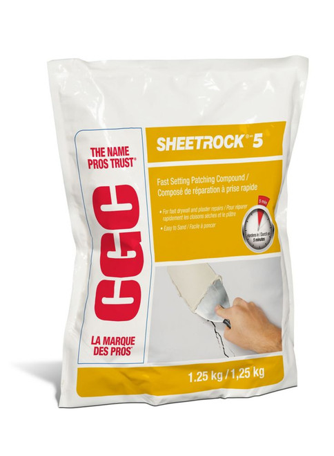 CGC Sheetrock 5 Setting-Type Joint Compound, 1.25 kg Bag
